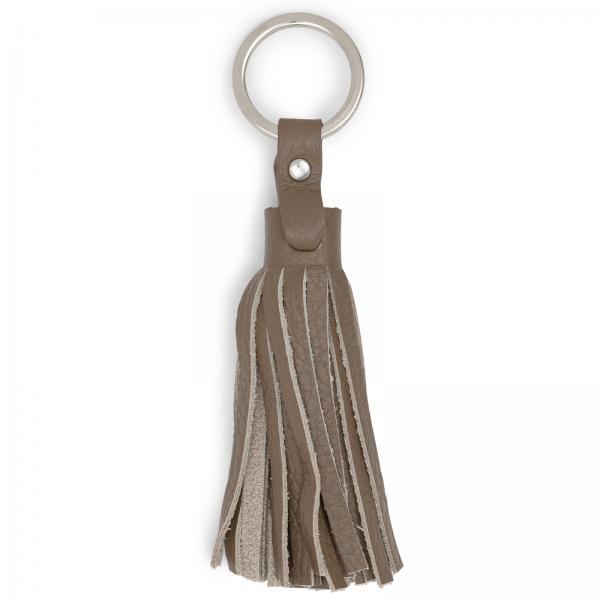 Taupefarbene Leder Schlüsselquaste - LABEKA Kollektion Taupe