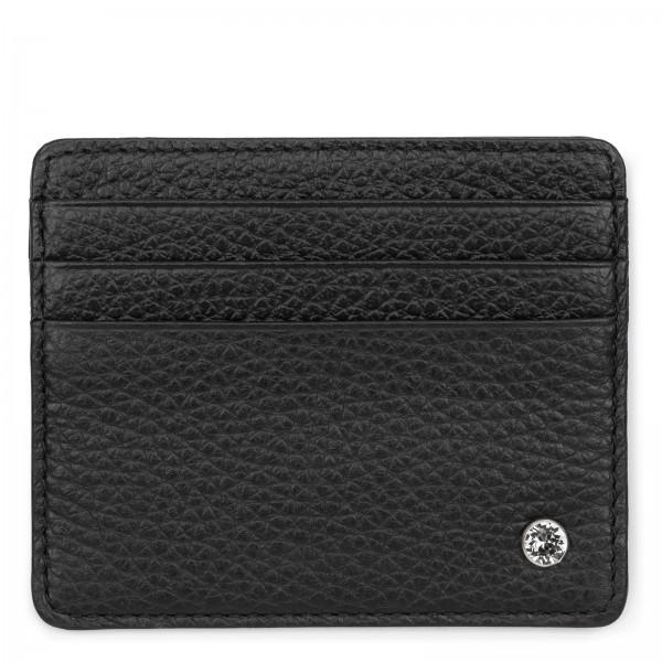 Schwarzes Leder Karten Etui | LABEKA Kollektion Coco | Vorderseite