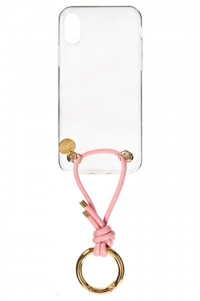 ISI mit rosefarbenem Lederband und goldenem Ring
